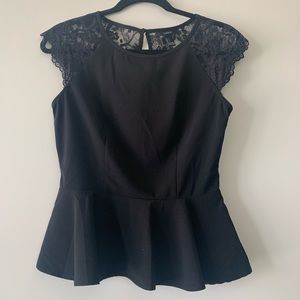 Forever21 Black Lace Top